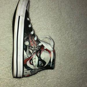 Harley Quinn inspired Chuck Taylor Converse. 7-1/2